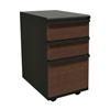 Filing cabinets: Marvel Group - Zapf Mobile Pedestal, Box/Box/File, Dark Neutral, Figured Mahogany Fronts