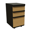 Filing cabinets: Marvel Group - Zapf Mobile Pedestal, Box/Box/File, Dark Neutral, Solar Oak Fronts