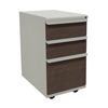 Filing cabinets: Marvel Group - Zapf Mobile Pedestal, Box/Box/File, Featherstone, Figured Mahogany Fronts
