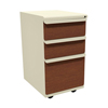 Filing cabinets: Marvel Group - Zapf Mobile Pedestal, Box/Box/File, Putty, Collectors Cherry Fronts