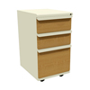 Filing cabinets: Marvel Group - Zapf Mobile Pedestal, Box/Box/File, Putty, Solar Oak Fronts