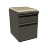 Filing cabinets: Marvel Group - Zapf Mobile Pedestal w/Seat, Box/File, Dark Neutral, Flax Fabric