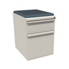 Filing cabinets: Marvel Group - Zapf Mobile Pedestal w/Seat, Box/File, Featherstone Iris Fabric
