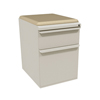 Filing cabinets: Marvel Group - Zapf Mobile Pedestal w/Seat, Box/File, Featherstone Flax Fabric