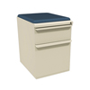 Filing cabinets: Marvel Group - Zapf Mobile Pedestal w/Seat, Box/File, Putty Iris Fabric