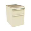 Filing cabinets: Marvel Group - Zapf Mobile Pedestal w/Seat, Box/File, Putty Flax Fabric