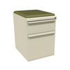 Filing cabinets: Marvel Group - Zapf Mobile Pedestal w/Seat, Box/File, Putty Fennel Fabric