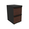 Filing cabinets: Marvel Group - Zapf Mobile Pedestal, File/File, Dark Neutral, Figured Mahogany Fronts