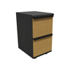 Filing cabinets: Marvel Group - Zapf Mobile Pedestal, File/File, Dark Neutral, Solar Oak Fronts