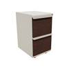 Filing cabinets: Marvel Group - Zapf Mobile Pedestal, File/File, Featherstone, Figured Mahogany Fronts