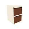 Filing cabinets: Marvel Group - Zapf Mobile Pedestal, File/File, Putty, Collectors Cherry Fronts