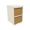 Filing cabinets: Marvel Group - Zapf Mobile Pedestal, File/File, Putty, Solar Oak Fronts