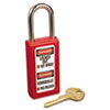 Master Lock Master Lock® Lightweight Zenex™ Safety Lockout Padlock MLK 411RED