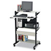 Tiffany Industries Mayline® Soho™ Adjustable Mobile Computer Table MLN 8432SOGRYBLK