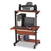 Tiffany Industries Mayline® Soho™ Adjustable Mobile Computer Table MLN 8432SOMECBLK