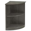 Mayline Mayline® Medina™ Series Quarter Round Two-Shelf Laminate Bookcase MLN MVBQ2LGS