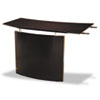 Desks & Workstations: Mayline® Napoli™ Veneer Series Bridge with Left Curved Base