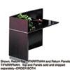 Tiffany Industries Mayline® Napoli™ Veneer Series Desk Return Top MLN NRRTMAH