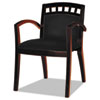 leatherchairs: Mayline® Mercado Series Leather Seating Arch-Back Guest Chair