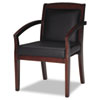 leatherchairs: Mayline® Mercado Series Leather Seating Wood Guest Chair