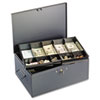 MMF Industries STEELMASTER® by MMF Industries™ Extra Large Cash Box with Handles MMF 221F15TGRA