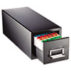 MMF Industries STEELMASTER® by MMF Industries™ Drawer Card Cabinet MMF 263F4616SBLA