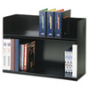 MMF Industries SteelMaster® Two-Tier Book Rack MMF 26423BRBK