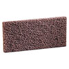 cleaning chemicals, brushes, hand wipers, sponges, squeegees: 3M Doodlebug™ Brown Scrub 'n Strip Pad