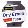 3M Scotch® Dry Erase Tape MMM 1905RDEWHT