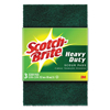 3M Heavy-Duty Scour Pad, 3.8w x 6L, Green, 3/Pack, 10 Packs/Carton MMM 22310CT