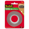 3M Scotch® Permanent Heavy Duty Interior/Exterior Mounting Tape MMM 411P