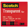 3M Scotch® Transparent Glossy Tape MMM 600121296