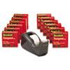3M Scotch® C60 Black Dispenser Plus 12 Rolls Scotch® Transparent 600 Tape MMM 600KC60