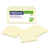Ring Panel Link Filters Economy: Highland™ Recycled Self-Stick Notes