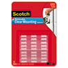 3M Scotch® Clear Mounting Squares, Removable MMM 859