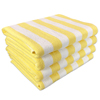 Monarch Brands Yellow Stripe 15lb Cabana Towel, 30