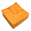 cleaning chemicals, brushes, hand wipers, sponges, squeegees: Monarch Brands - Orange Microfiber Cloth, 16 x 16, 49 gram , 1 Dozen