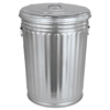 Magnolia Brush Magnolia Brush Galvanized Trash Can With Lid MNL20GALLONWLID