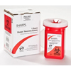 Sharps Compliance Mailback Sharps Collector Mail System® 1 Quart Red Base MON 10122800