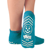 Hospital Apparel: PBE - Slipper Socks Pillow Paws Teal Ankle High