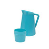Medical Action Industries Pitcher Medegen Cold 32 oz. / 9 oz. Blue MON 11002900