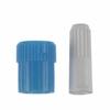 B. Braun Luer Lock Caps Blue Male / White Female, 100 EA/CS MON 928126CS