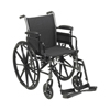 McKesson Lightweight Wheelchair Cruiser III Dual Axle Desk Length Arm Flip Back, Padded, Removable Arm Style Mag Wheel Black 18 Inch Seat Width 300 lbs. Weight Capacity, 1/ EA MON 1128892EA