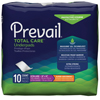 cleaning chemicals, brushes, hand wipers, sponges, squeegees: First Quality - Prevail® Super Absorbent Underpad - Clear Bag, 10 EA/BG