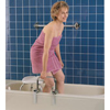 "Bathroom Aids Rails Grab Bars: Apex-Carex - Bathtub Grab Bar Carex 11 W"" x 3/4 D"" x 7 H"" Chrome Steel"
