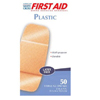 Dukal American® White Cross Plastic Strips (1070033), 50 EA/BX MON 127038BX