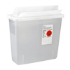 Cardinal Health SharpSafety™ In Room Sharps Container, Always Open Lid, Clear, 3 Gallon MON 207390CS