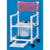 Innovative Products Shower Chair / Commode With Footrest, Seatbelt and Pail Standard Line Fixed Arm PVC Mesh 17 Inch MON 12973300