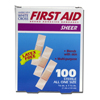 Derma Sciences Adhesive Strip Stat Strip Plastic 3/8 X 1-1/2 Rectangle Beige, 100EA/BX MON 12982000