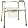 McKesson Commode Chair SunMark® Fixed Arms Steel Seat Lid Back 16-22 MON 13143300